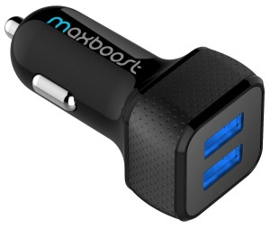 Maxboost 4.8A/24W 2-Smart Port USB Car Charger